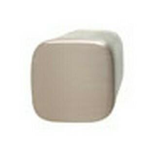 Hafele Cabinet Hardware, Knob, zinc, brushed nickel / plastic, green, 24 x 24mm