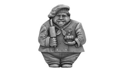 Notting Hill Cabinet Hardware Baker MAGNET Antique Pewter 1-1/2 w x  1-3/4