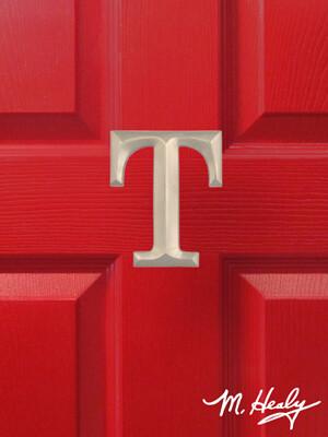 Michael Healy Designs Letter T Door Knocker - Brushed Nickel