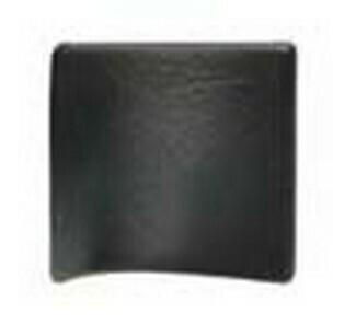 Hafele Cabinet Hardware, Handle, zinc, leather, black, center to center 16mm