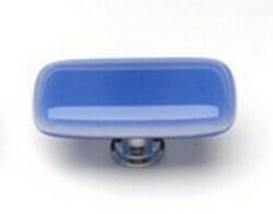 Sietto Glass Rectangular  Cabinet Knobs Intrinsic Sky Blue