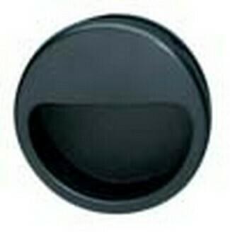 Hafele Cabinet Hardware, Mortise Pull, plastic, black, diameter 55mm