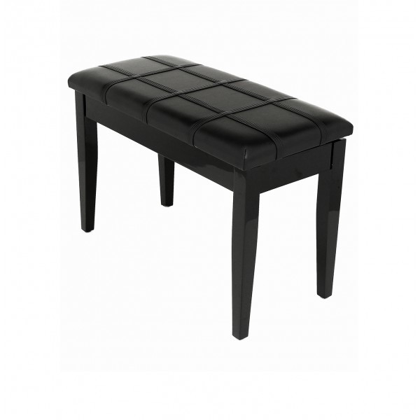 Dolce - Piano Stool with Music Book Storage - Polished Ebony