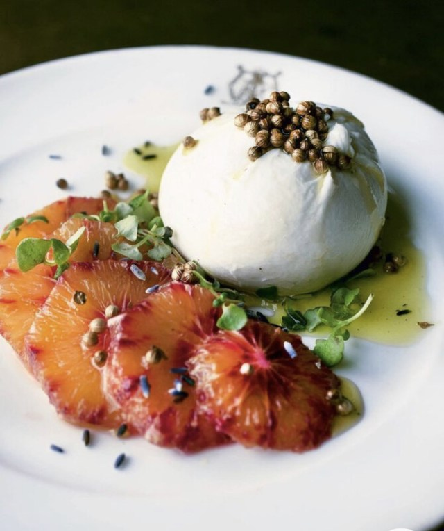 Burrata - Lentilles - Orange Sanguine