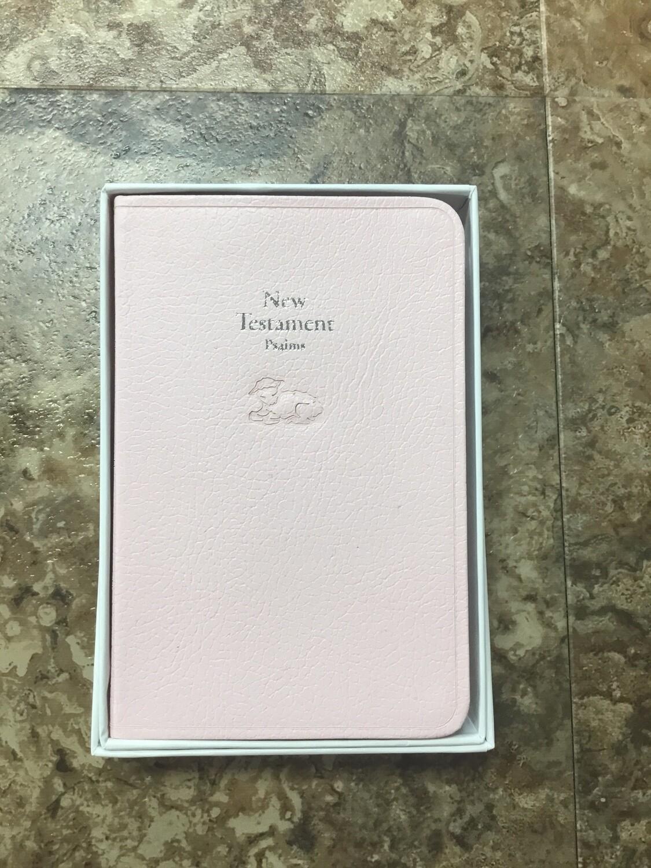 pink baby new testament
