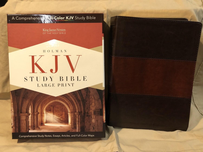 KJV Study Bible Lrg Print Saddle Brown