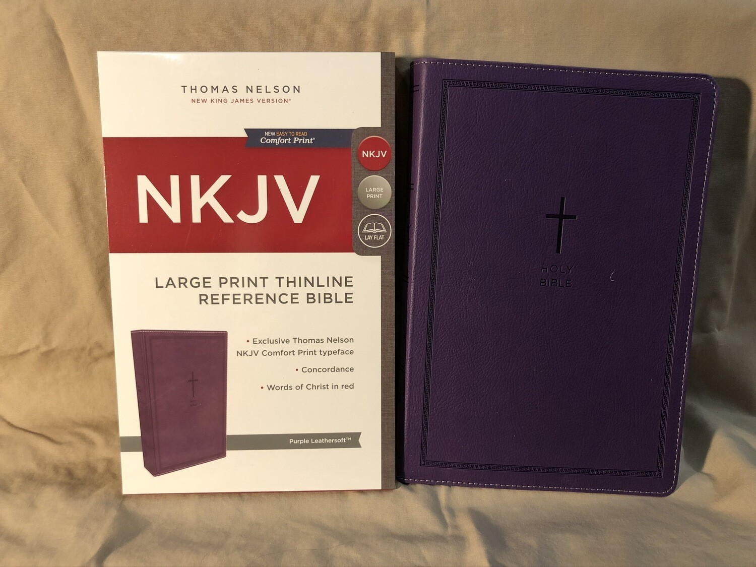Large Print Purple Leathertouch