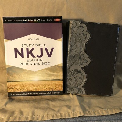 NKJV Smoke/Slate Leathertouch