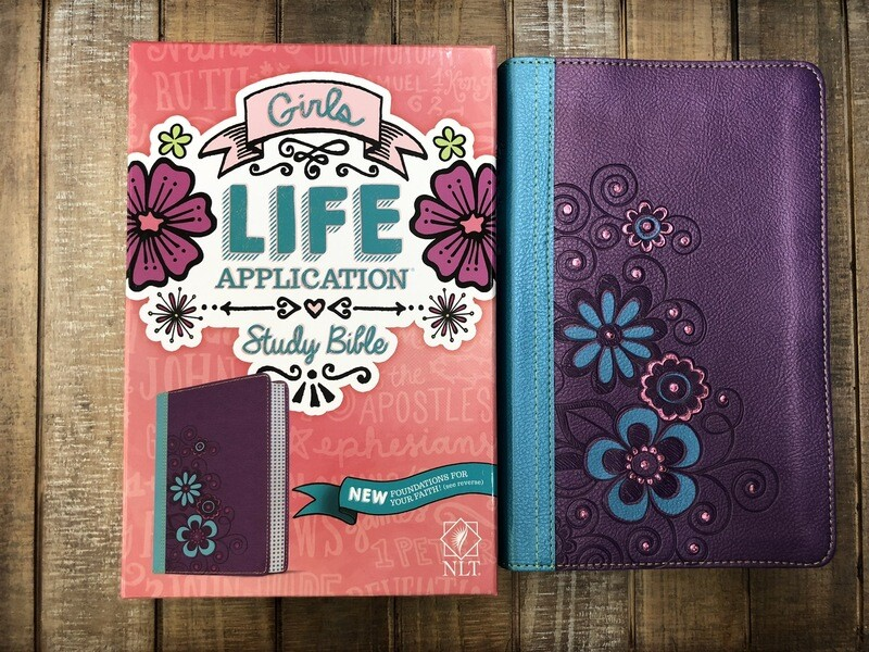 NLT Purple/Teal LASB Bible
