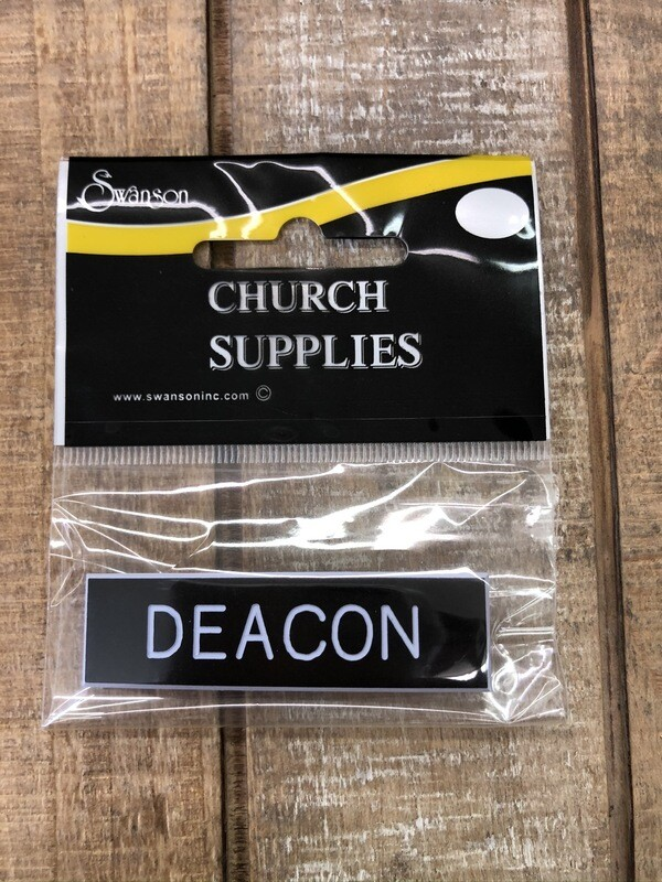Plastic Deacon Pin