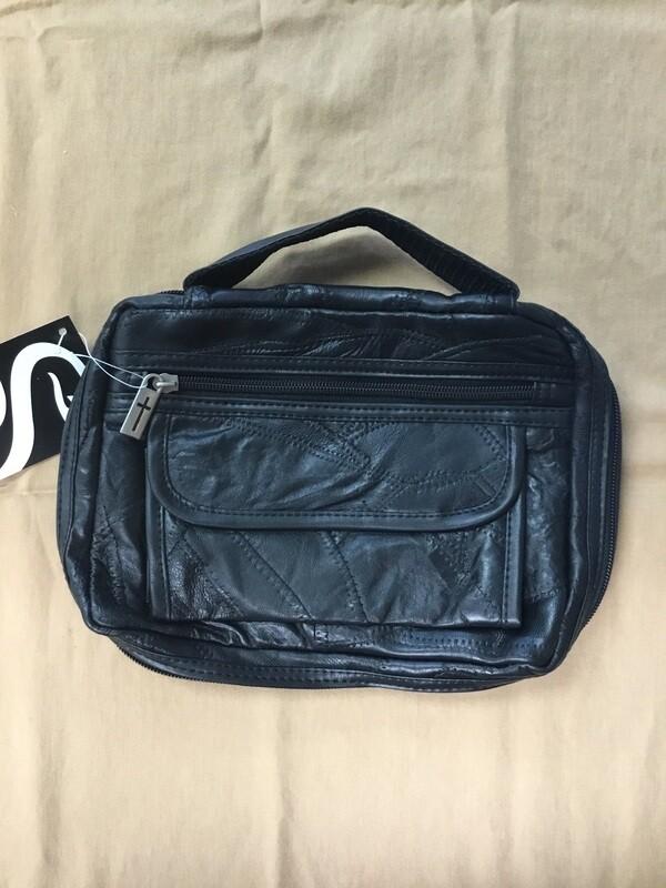 Medium Black Leather Case
