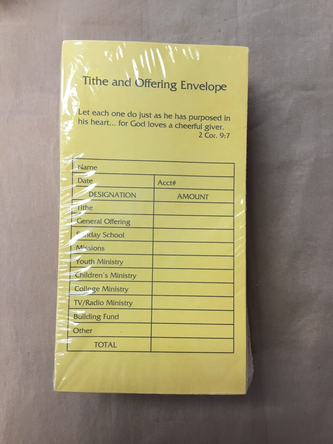 Tithes & Offering 100 ct envelopes