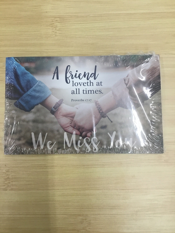 We Miss You Postcard