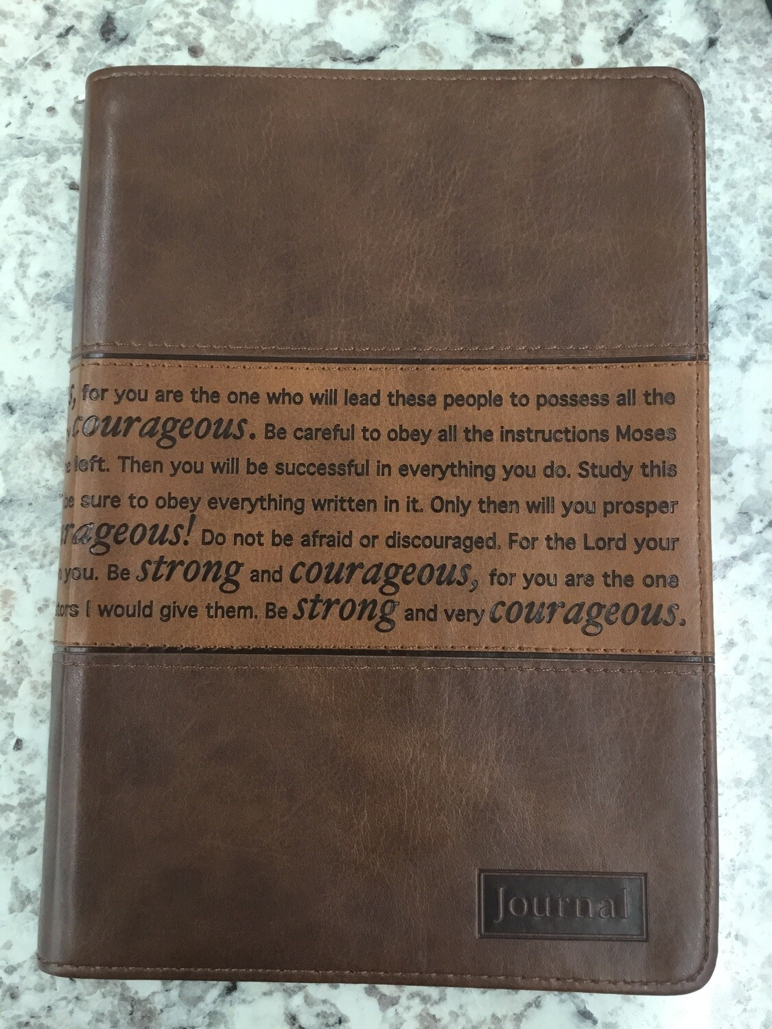 Strong and Courageous Notebook