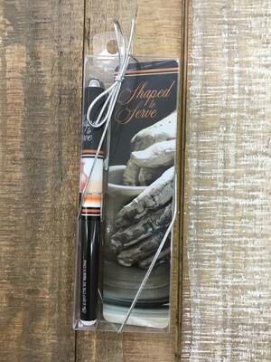 Pen & Bookmark Set Shaped To Serve