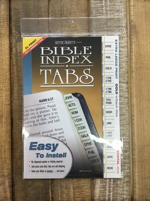 Verse Finders Bible Tabs Extra Lg Print Gold