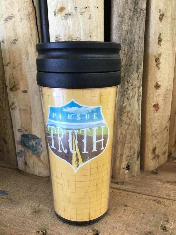 Pursue Truth travel mug