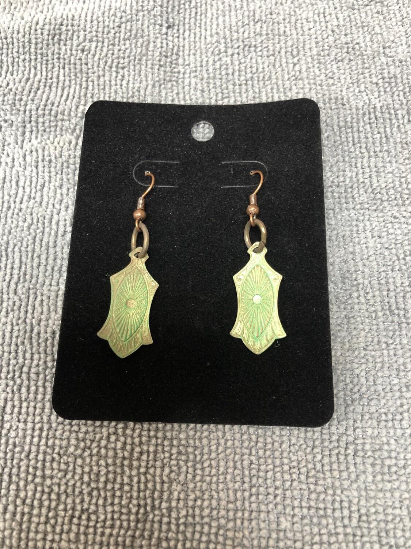 Green Pendant Earrings