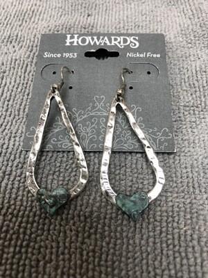Teardrop w/ Heart Earrings