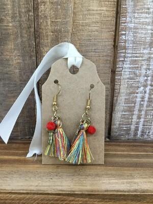 Cross Tassel Earrings