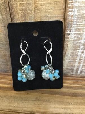 Crystal Vine Teal Earrings