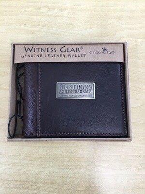 Two-Tone Genuine Leather Be Strong and Courageous