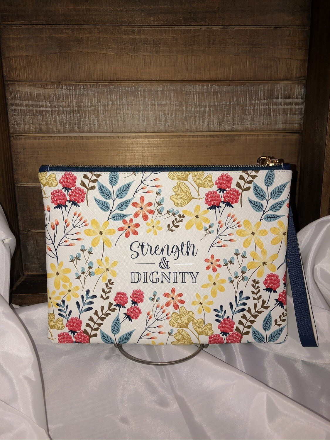 Strength and Dignity Zipper Pouch