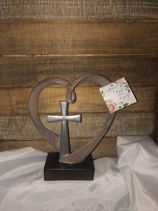 Above All Tabletop Wedding Cross