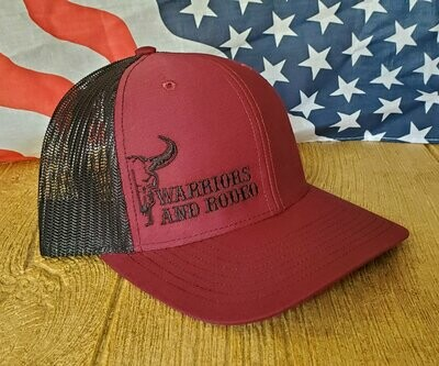 Warriors and Rodeo Maroon/Black Hat