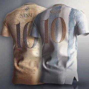 messi tshirt soccer