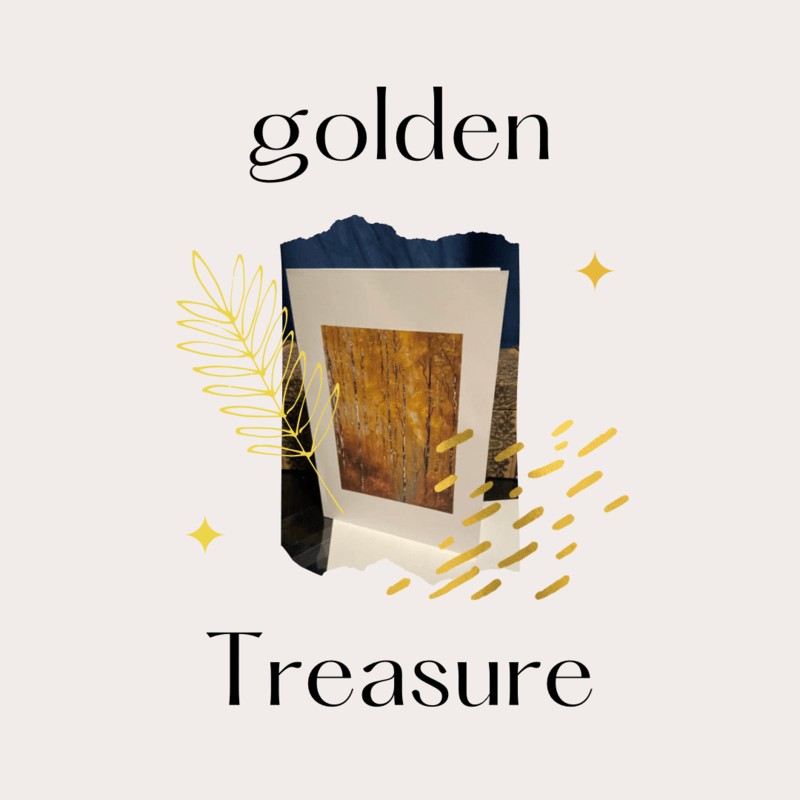 Golden Treasure Greeting Cards 5 In A Pack