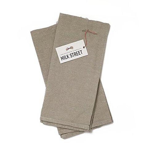 Milk Street Deluxe Linen Cotton Towel - Khaki