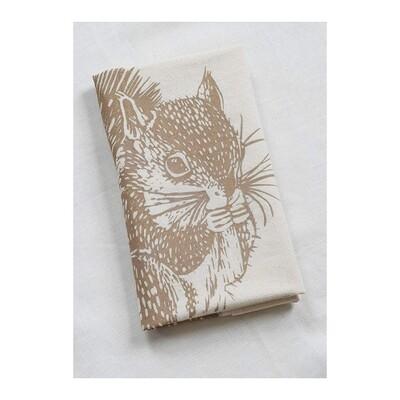 Hearth & Harrow Organic Cotton Tea Towel - Squirrel
