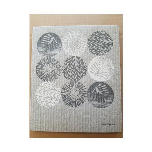 Compostable Dishcloth - Circular Abstract Plants