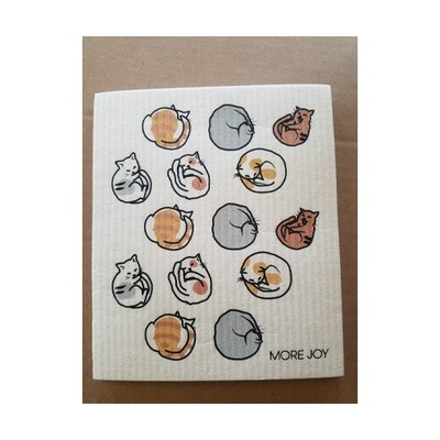 Compostable Dishcloth - Cats Napping