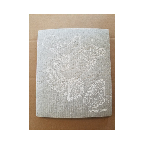 Compostable Dishcloth - Grey with Oysters