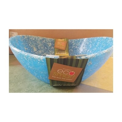 Eco-Smart Poly-Paper Blue Serving Bowl