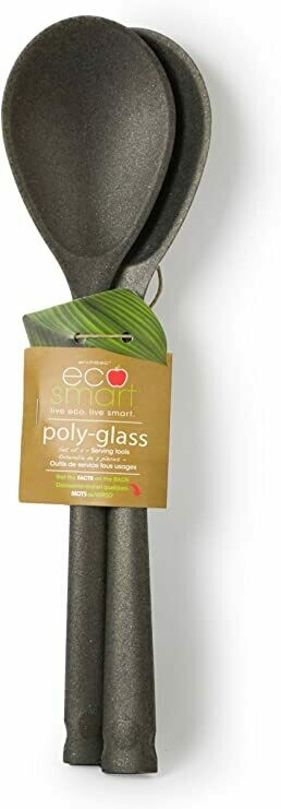 Eco-Smart Poly-Glass Set of 2 Serving Spoons - Black