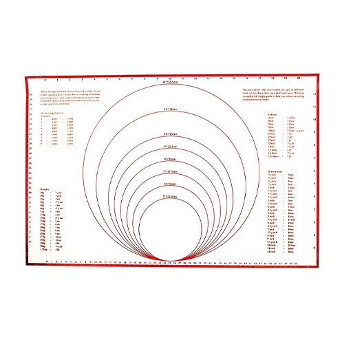 Foxrun Silicone Pastry Mat with Measurements