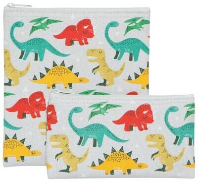 Now Designs Set of 2 Snack Bags - Dandy Dinos