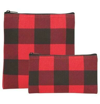 Now Designs Set of 2 Snack Bags - Buffalo Check