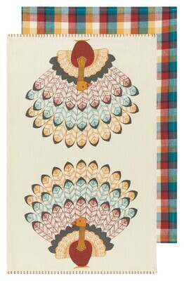 Now Designs Set of 2 Dish Towels - Tommy Turkey