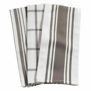 KAF Home Set of 3 Kitchen Towels - Pewter