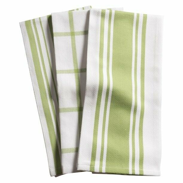 KAF Home Set of 3 Kitchen Towels - Sprout
