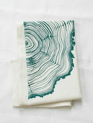 Hearth & Harrow Organic Cotton Tea Towel - Tree Ring
