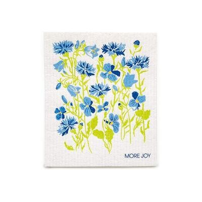 Compostable Dishcloth - Blue Flowers