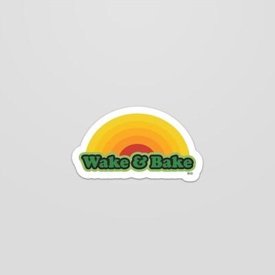 Wake N Bake sticker small oval