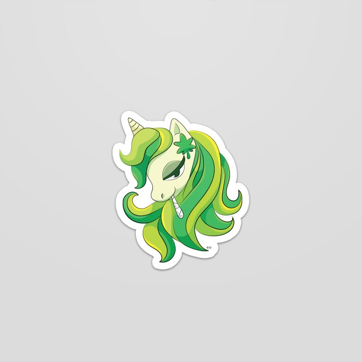 My Little Weed Pony Sticker