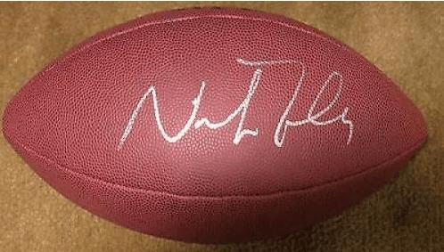 Nick Foles Autographed Football
