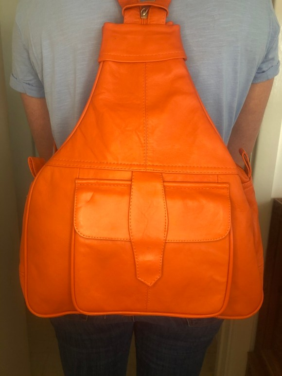 Burnt Orange Leather Rucksack Cross-Body bag